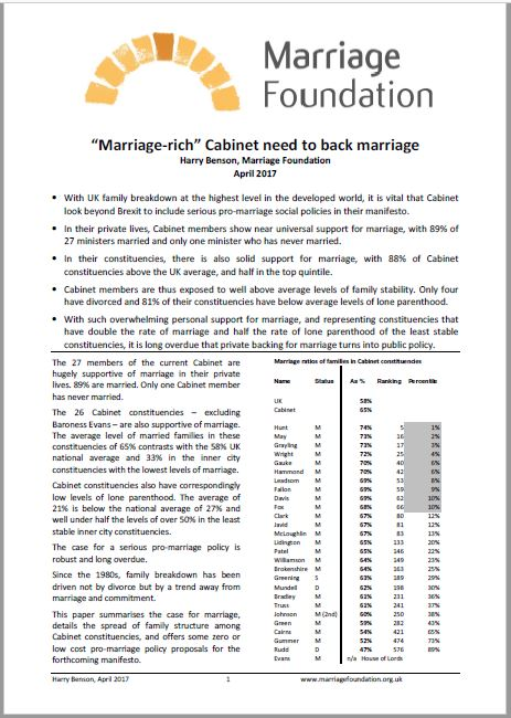 cabinet and marriage